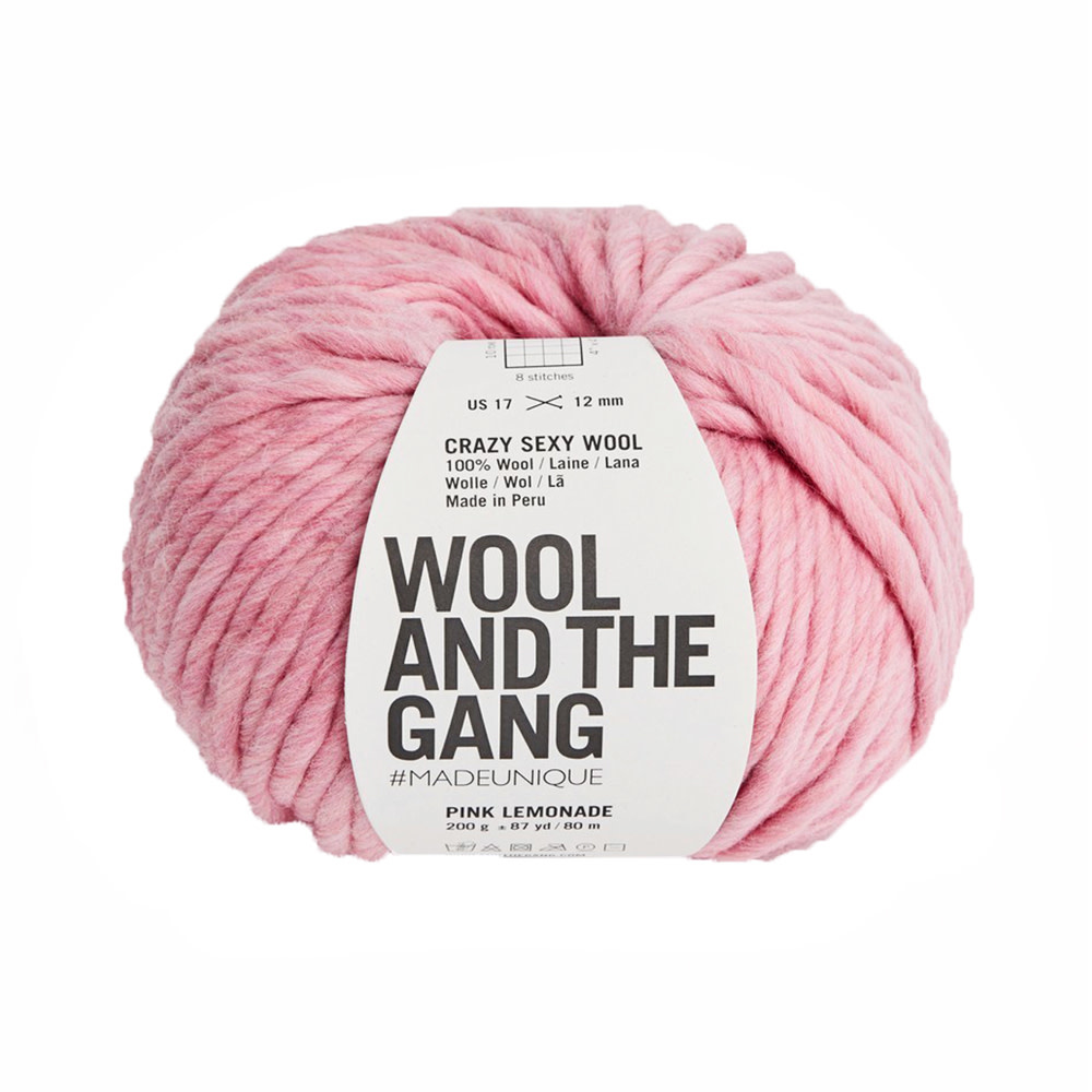 Wool And The Gang Wool And The Gang Crazy Sexy Wool - Pink Lemonade