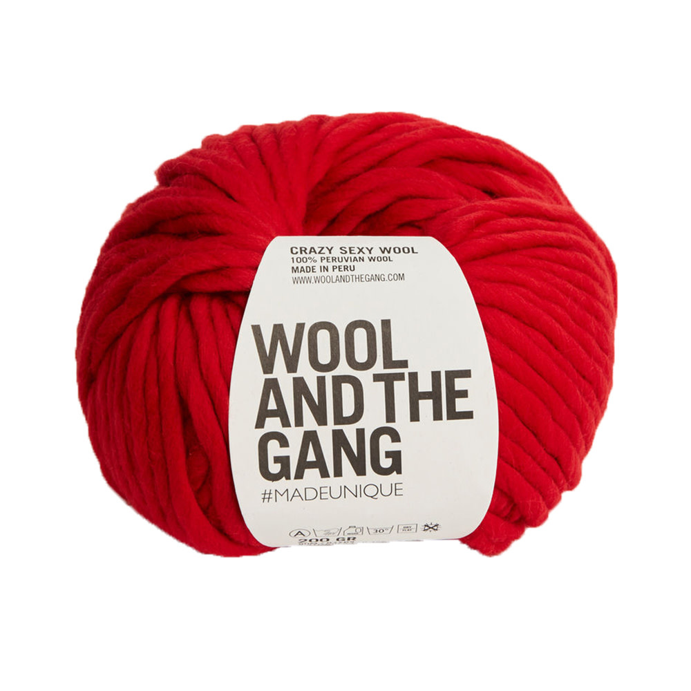 Wool And The Gang Crazy Sexy Wool - Lipstick Red