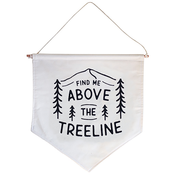 Hills & Trails Co. Hills & Trails Screen Print Banner - Above The Tree Line