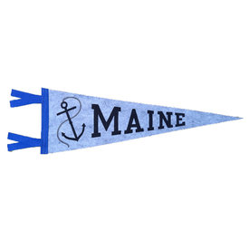 Quiet Tide Goods Quiet Tide Goods Pennant - Maine Anchor - Grey Wool