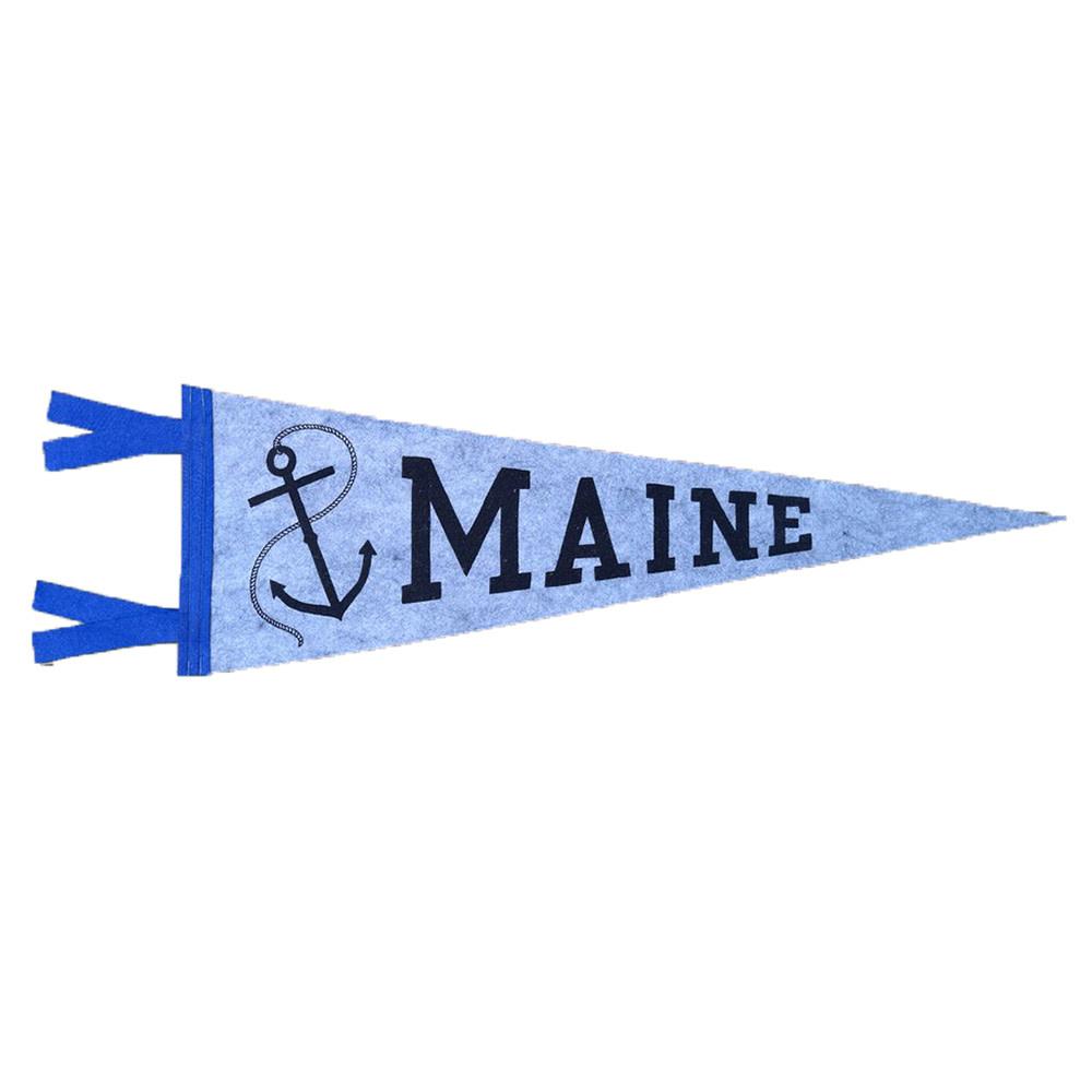 Quiet Tide Goods Quiet Tide Goods Pennant - Maine Anchor - Grey Wool