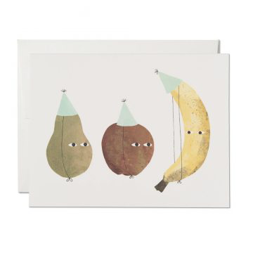Red Cap Cards Fruit Party Birthday card