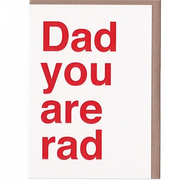 Sad Shop Sad Shop - Dad You Are Rad Card