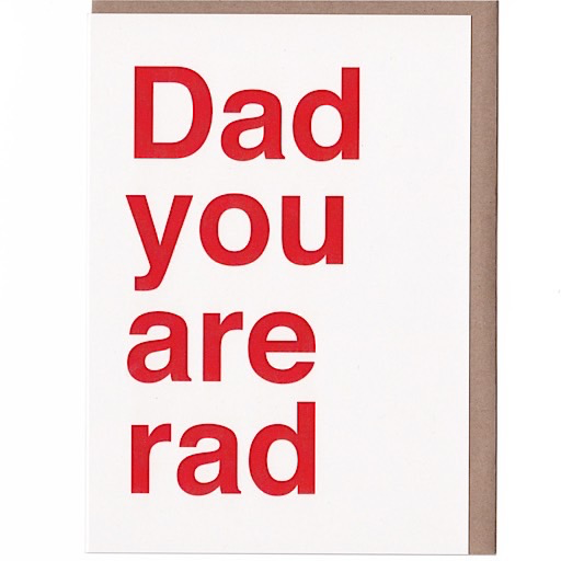 Sad Shop - Dad You Are Rad Card