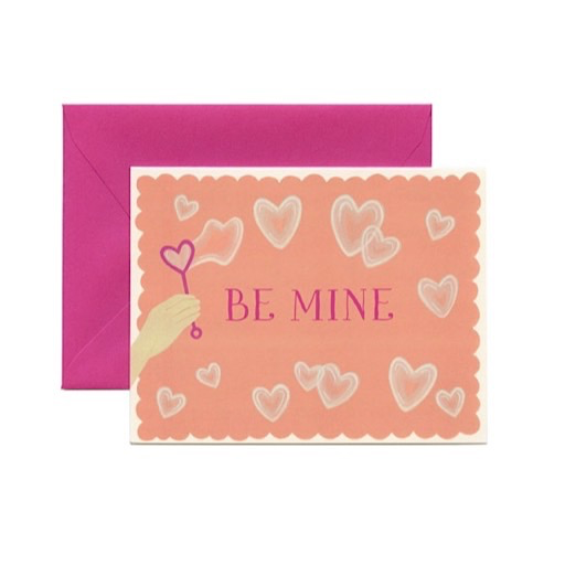 Yeppie Paper Be Mine Bubbles Card