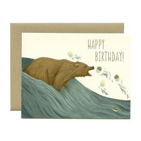 Yeppie Paper Yeppie Paper Grizzly Bear Cupcakes Birthday Card