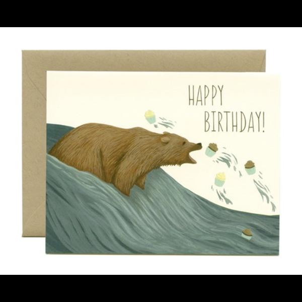 Yeppie Paper Yeppie Paper Grizzly Bear Cupcakes Birthday Card