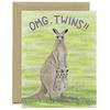 Yeppie Paper Kangaroo OMG Twins! Card