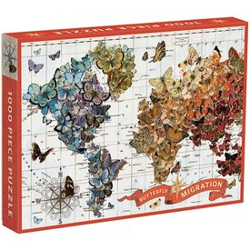 Galison Mudpuppy Wendy Gold Butterfly Migration 1,000 Piece Puzzle