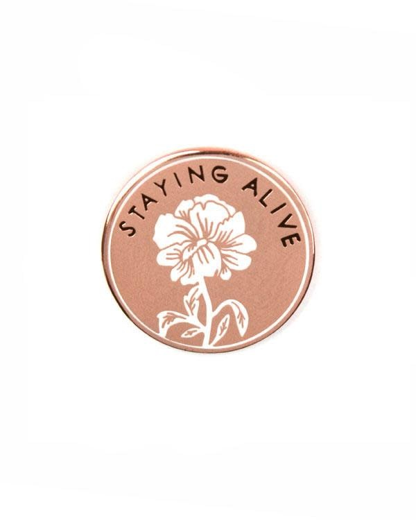 Stay Home Club Lapel Pin - Staying Alive
