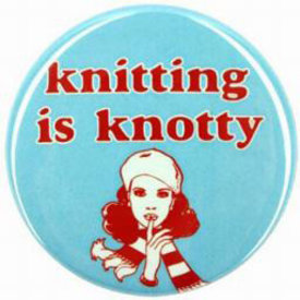 Sarah Utter Knitting is Knotty Button