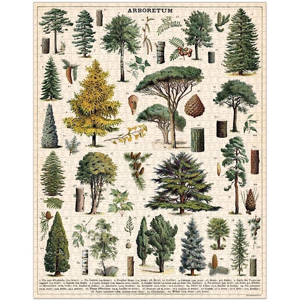 Cavallini Jigsaw Puzzle - Arboretum - 1000 Pieces