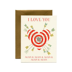 Yeppie Paper Yeppie Paper I Love You Again & Again Card