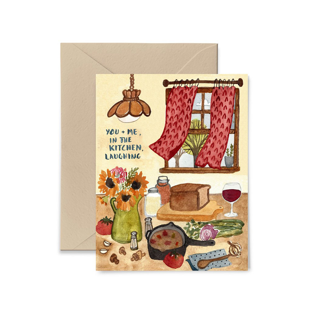 Little Truths In The Kitchen Laughing Card