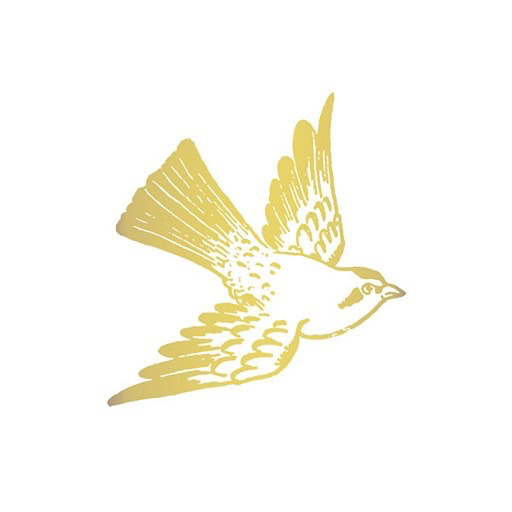 Tattly Tattoo 2-Pack - Cartolina Bird - Gold