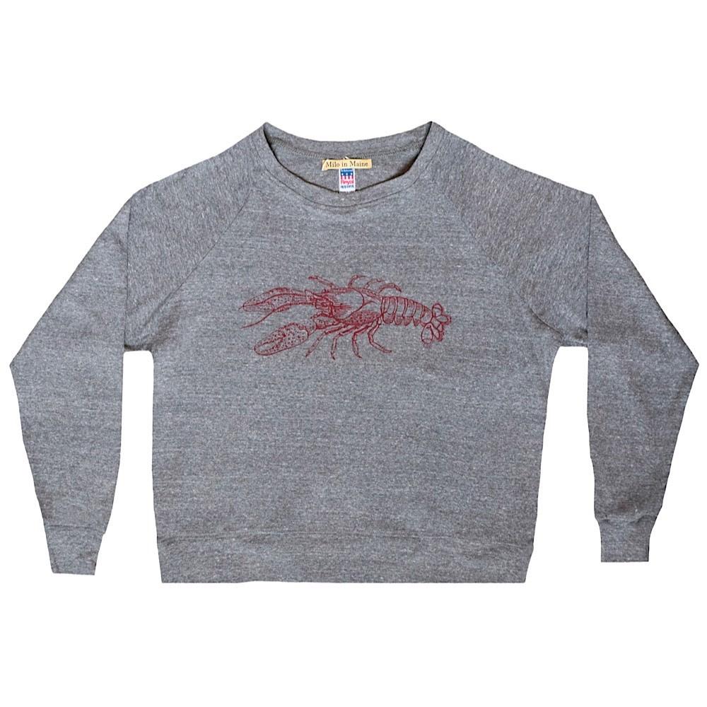 Milo In Maine Women's Long Sleeve Raglan Pullover - Lobster