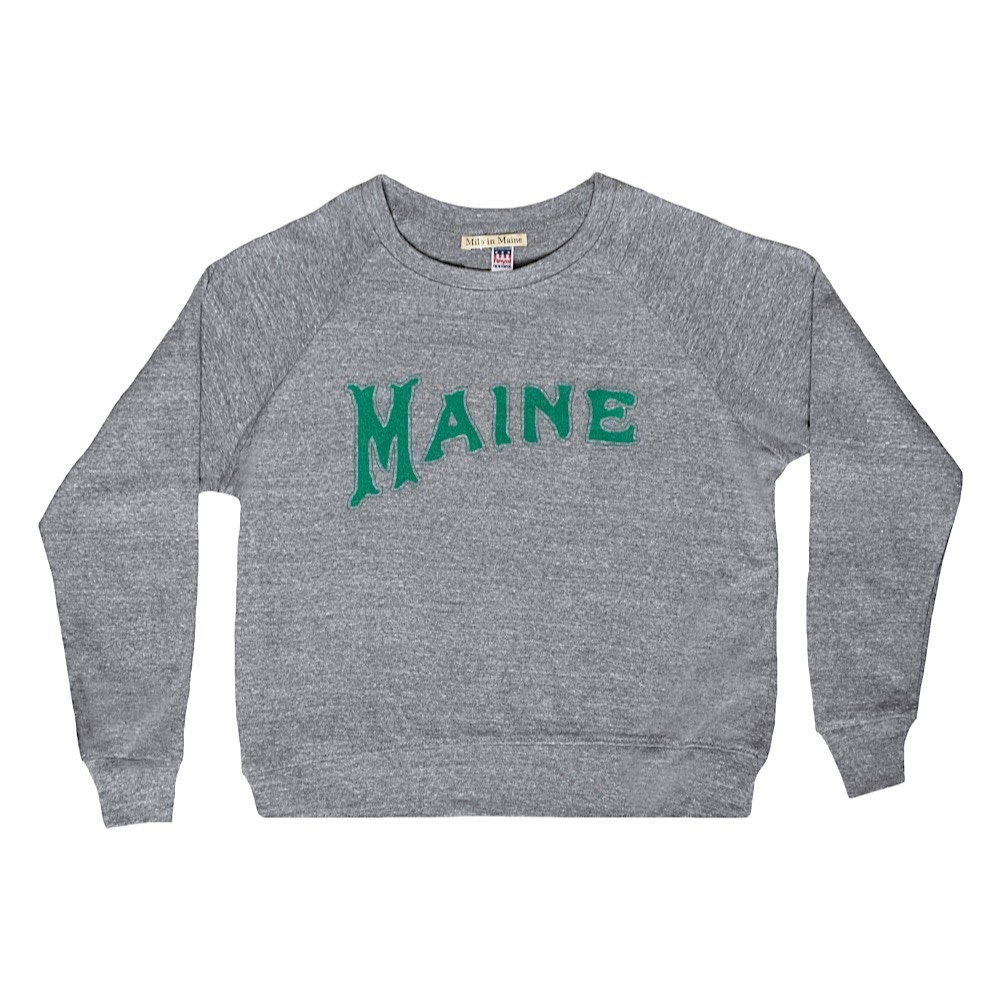 Milo in Maine Milo In Maine Women's Long Sleeve Raglan Pullover - Green Maine