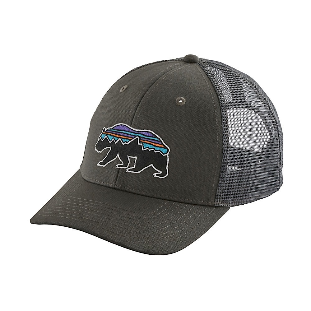 Patagonia Trucker Hat - Fitz Roy Bear - Forge Grey
