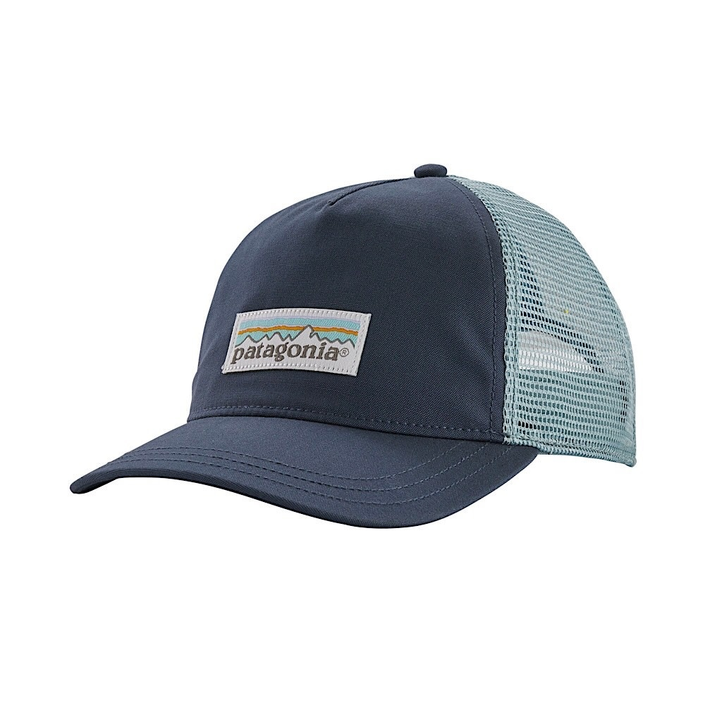Patagonia Trucker Hat Womens Layback - Pastel P6 Label - Dolomite Blue