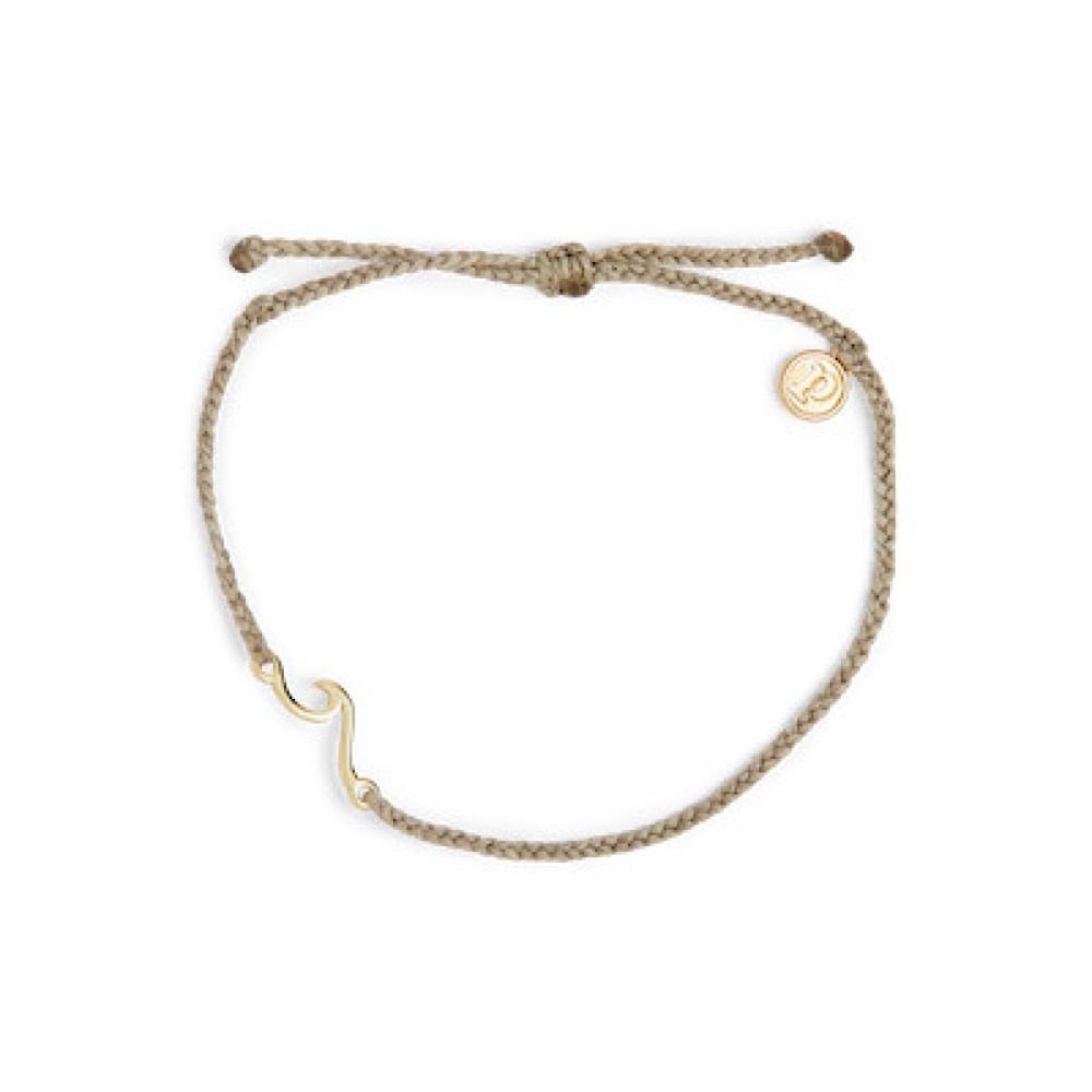 Pura Vida Shoreline Anklet - Gold/Light Grey