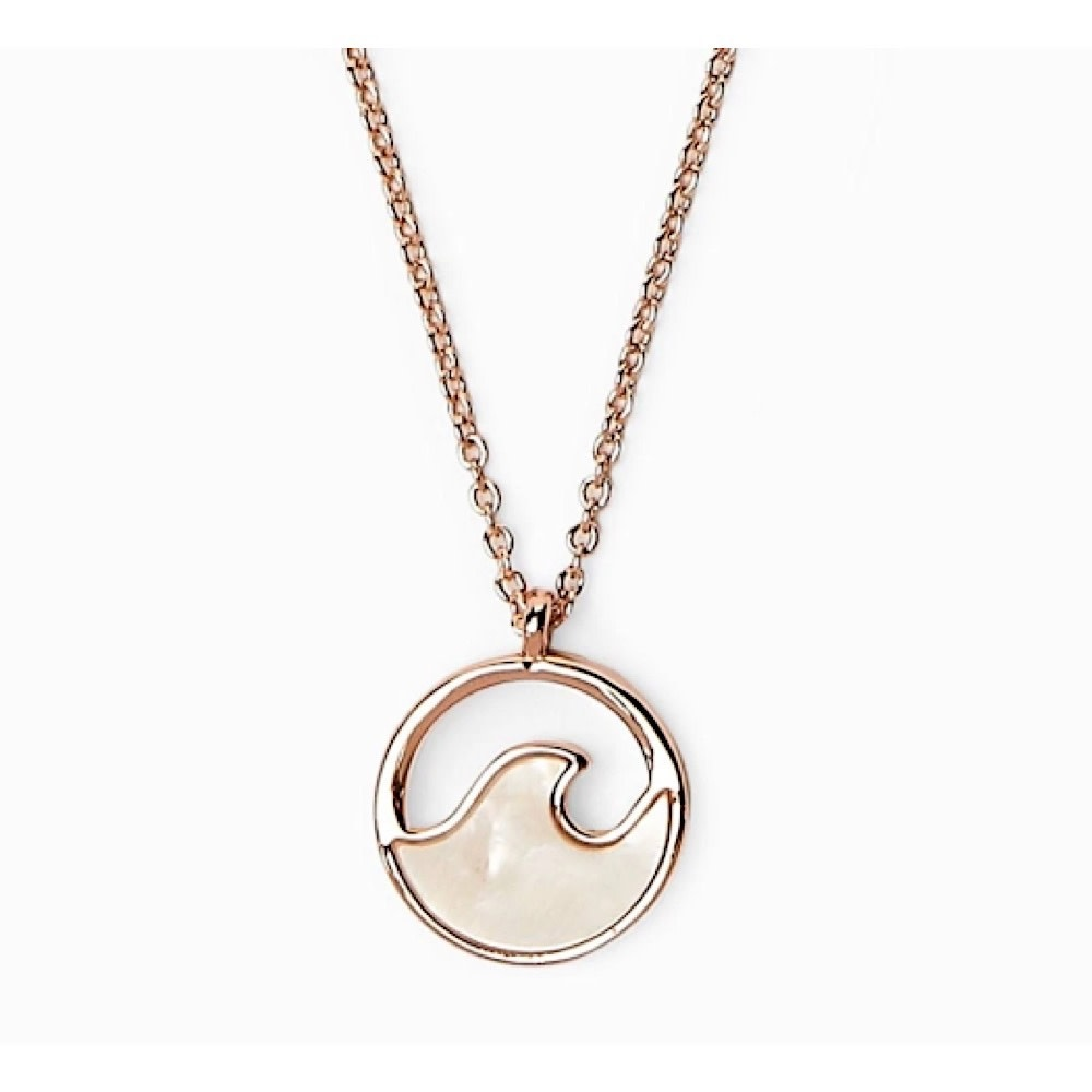 Pura Vida Stone Wave Necklace - Rose Gold