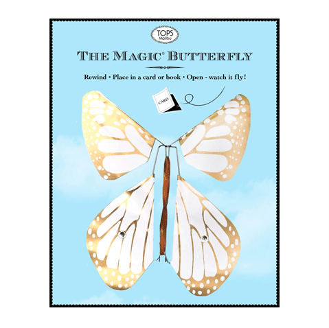Tops Malibu Tops Malibu Magic Flying Butterfly - Gold Glitter