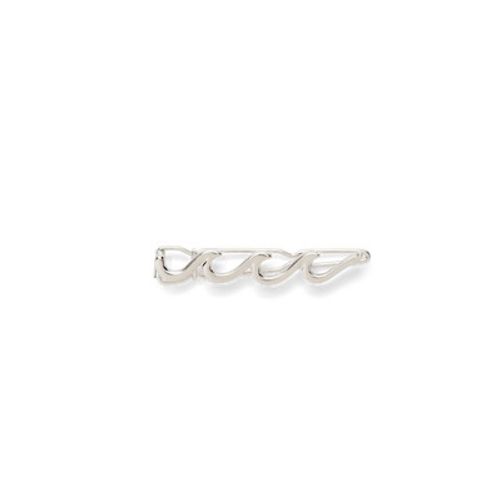 Pura Vida Hair Barrette - Wave - Silver