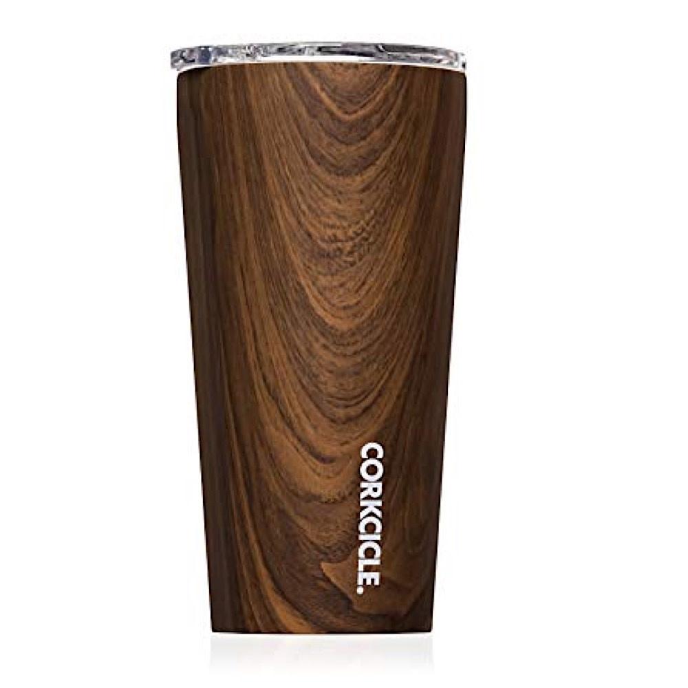 Corkcicle Tumbler 16oz - Walnut Wood