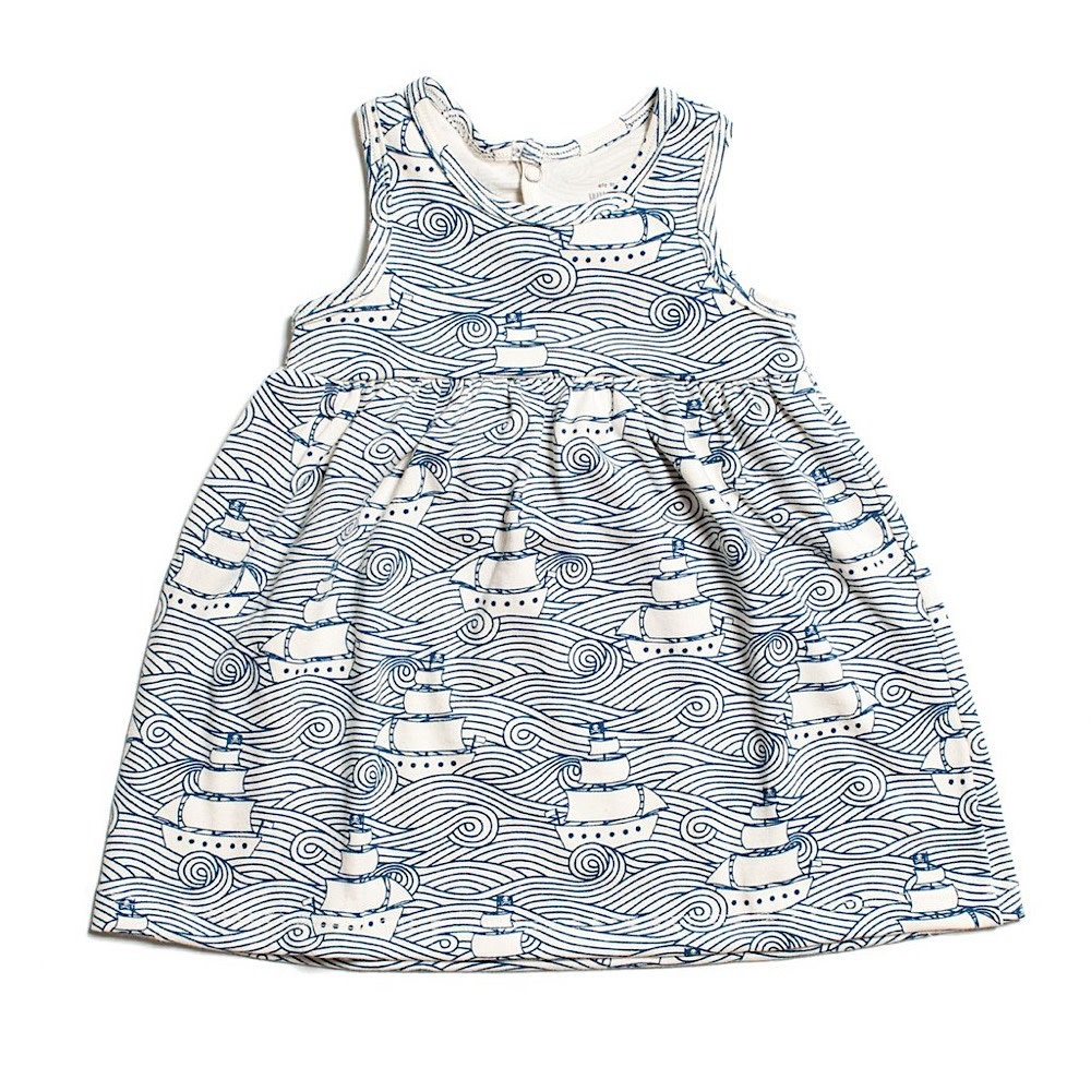 Winter Water Factory Winter Water Factory Oslo Baby Dress - High Seas Navy