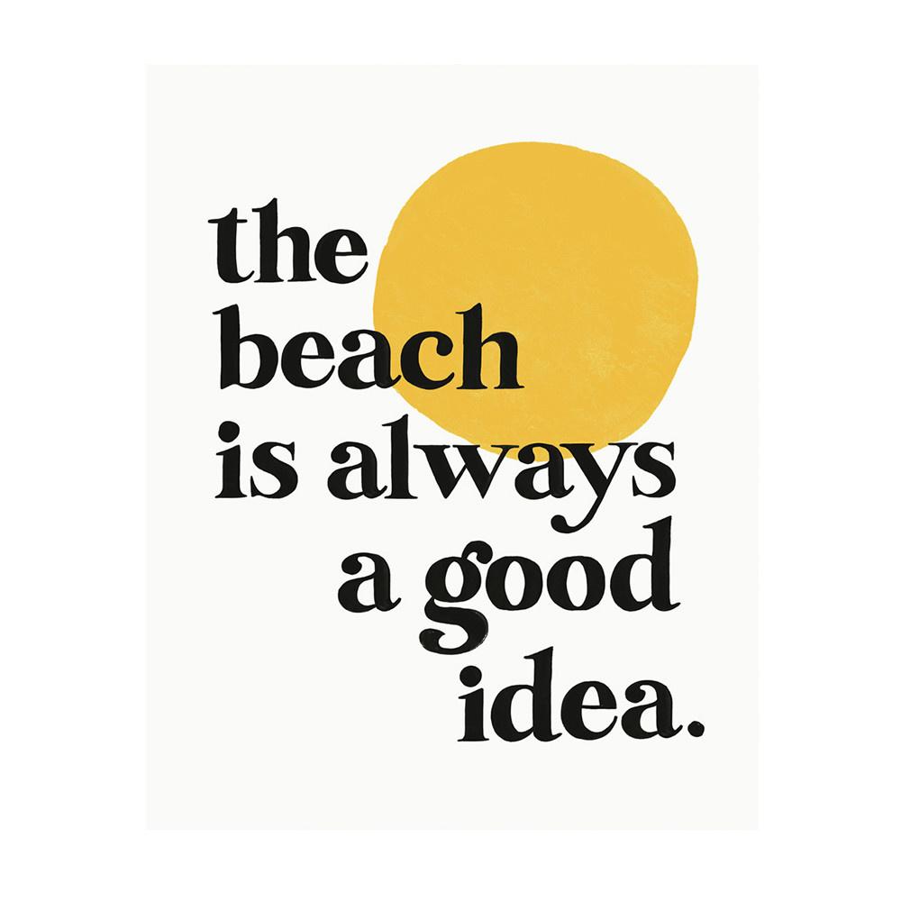 "Idlewild Print - Beach 8x10"""