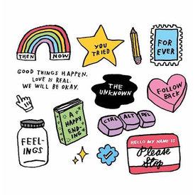Tattly Tattly Tattoo Sheet - Mixed Feelings