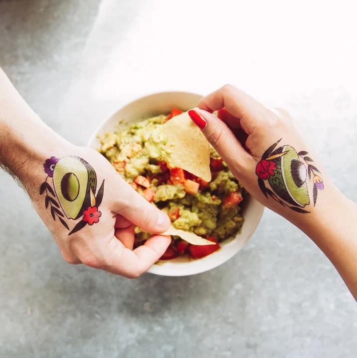 Tattly Tattoo 2-Pack - Avocado
