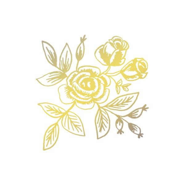 Tattly Tattly Tattoo 2-Pack - Gold Floral