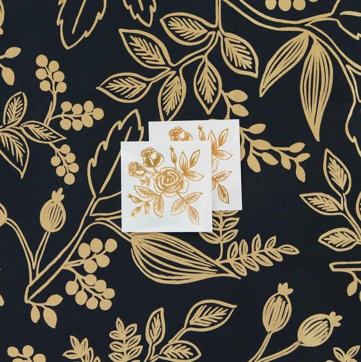 Tattly Tattoo 2-Pack - Gold Floral