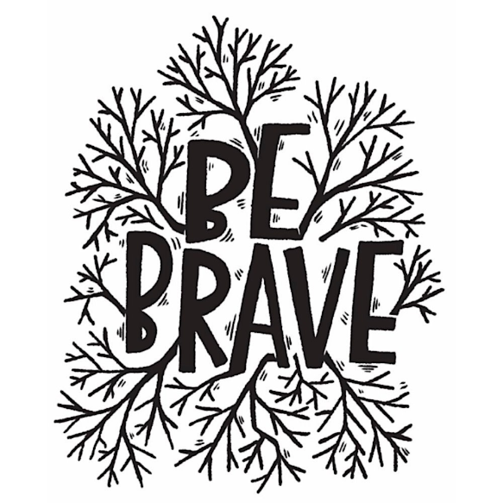 Tattly Tattoo 2-Pack - Be Brave