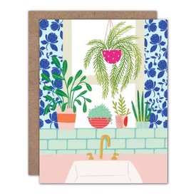 Olive & Company Olive & Company Card - Kitchen Window Plants