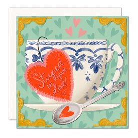 Olive & Company Olive & Company Card - Steeped In Love Teacup