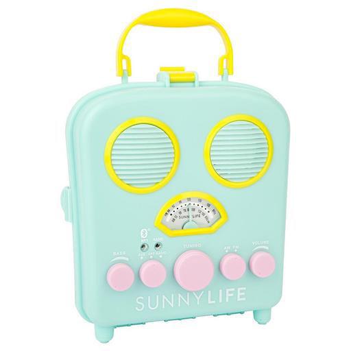 Sunnylife Beach Sounds Portable Speaker and Radio - Seafoam