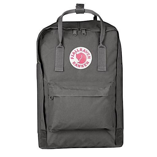 """Fjallraven Kanken 15"""" Laptop Backpack - Super Grey"""