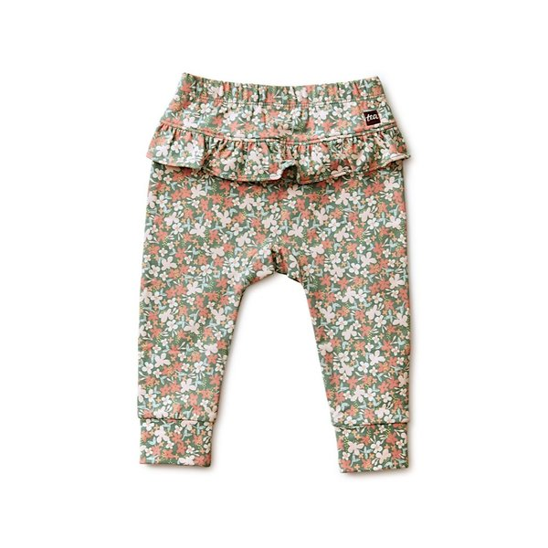 Tea Collection Tea Collection Ruffle Pants - Cyprus Floral