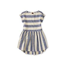Tea Collection Button Shoulder Dress - Astral