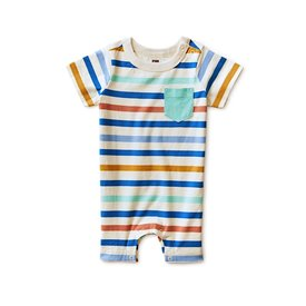 Tea Collection Tea Collection Chest Pocket Romper - Birch