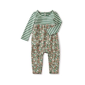 Tea Collection Tea Collection Two-Tone Romper - Cyprus Floral