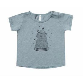 Rylee + Cru Rylee + Cru Bear Basic Tee - Dusty Blue