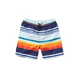 Tea Collection Mid-Length Swim Trunk - Cairo Stripe