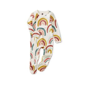 Tea Collection Footed Romper - Rainbows