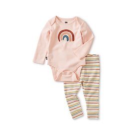 Tea Collection Bodysuit Baby Outfit - Chalk