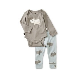 Tea Collection Bodysuit Baby Outfit - Rhino