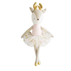 Alimrose Alimrose Linen Reindeer in Tutu - Pink Gold Star