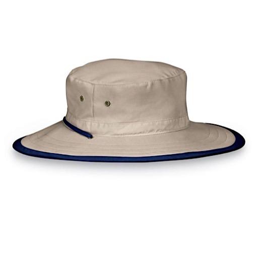Wallaroo Hat Company Jr. Explorer Hat - Camel/Navy